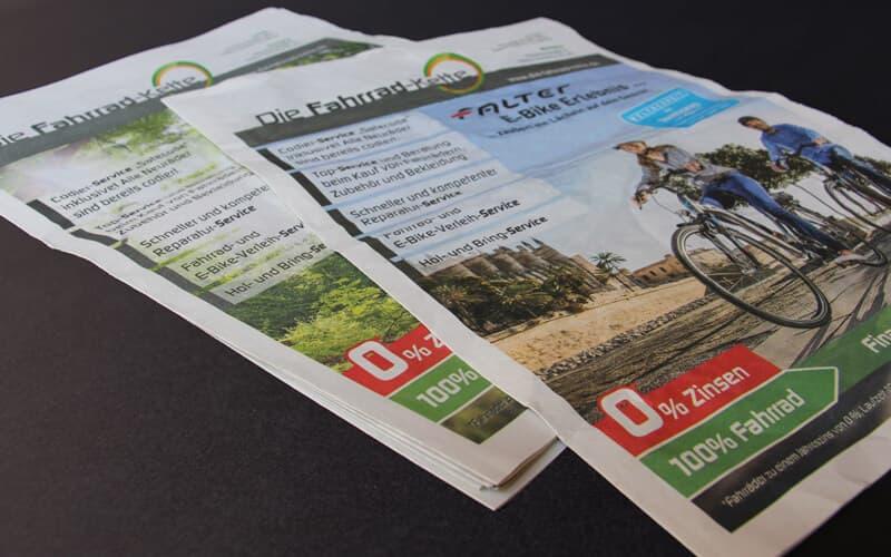 Zeitung für Fahrrad-Kette