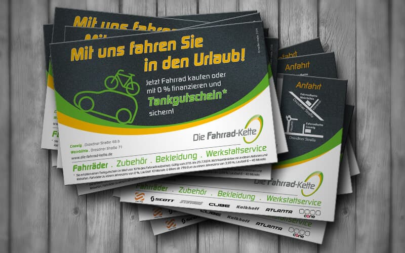 Flyer für Fahrrad-Kette