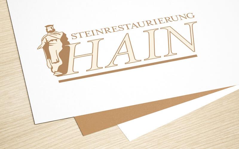 Logoaufbereitung für Steinrestaurierung Hain