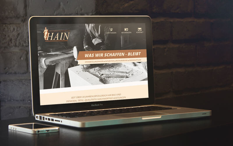Webdesign für Steinrestaurierung Hain