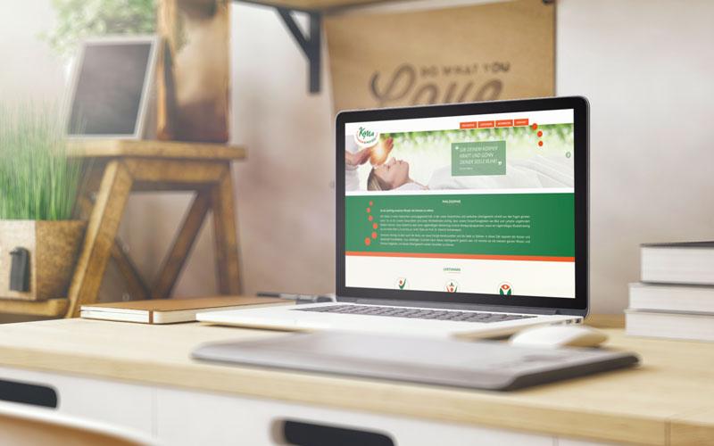 Webdesign für Kama Physio