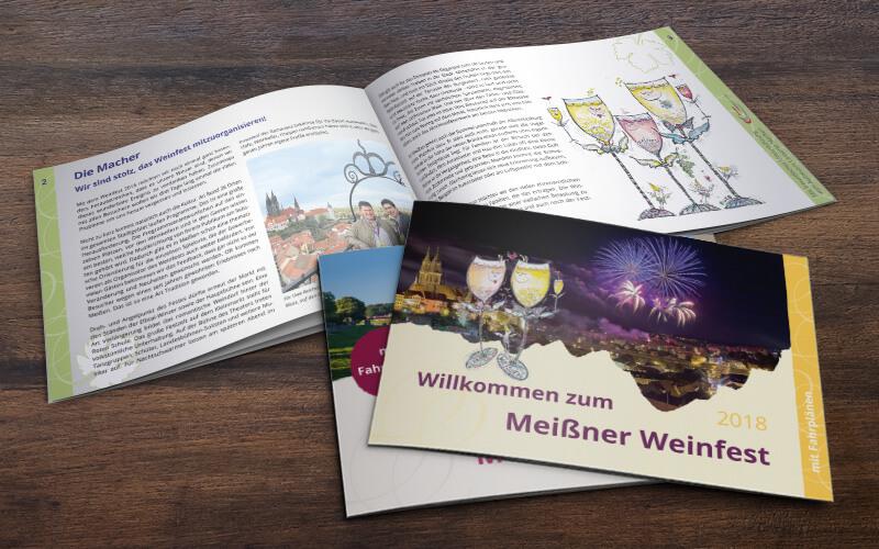 Broschüre Weinfest Meißen
