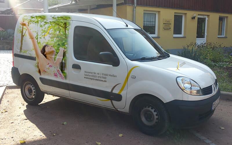 Fahrzeuggestaltung für Stiftung Soziale Projekte Meißen