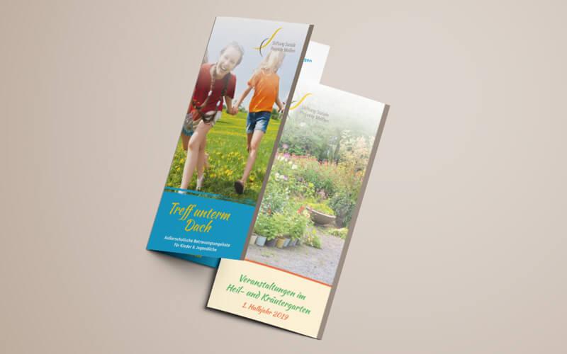 Folder für Stiftung Soziale Projekte Meißen