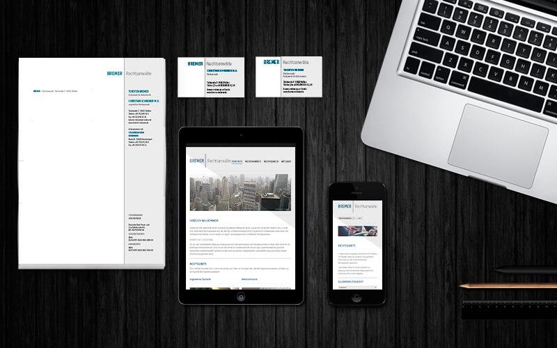 Corporate Design für Bremer Rechtsanwälte