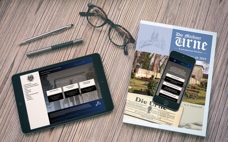 Webdesign und Magazin für Krematorium Meißen