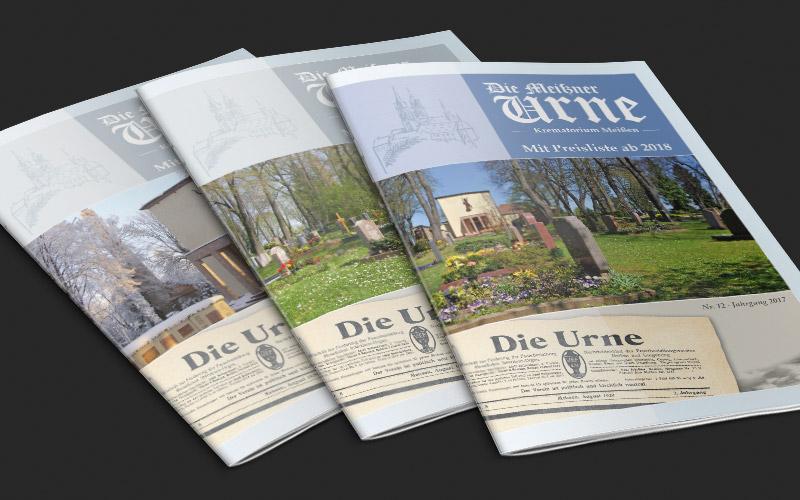 Broschüre für Krematorium Meißen