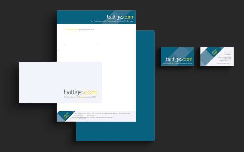 Corporate Design für battige.com