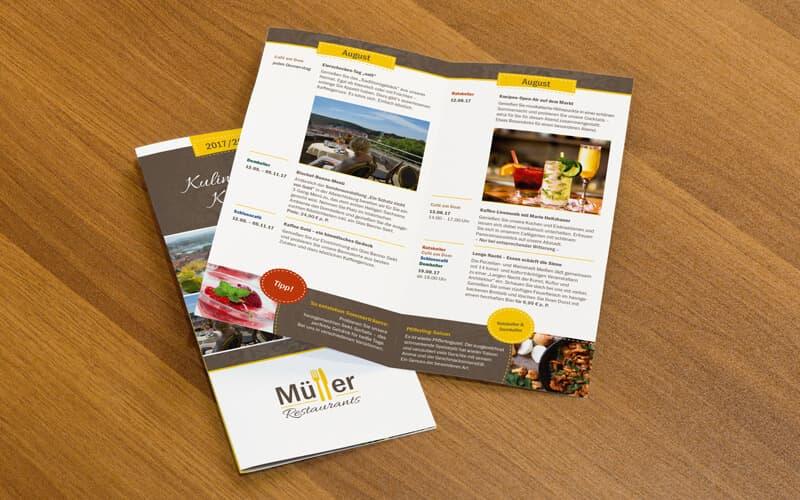 Kulinarischer Kalender für Müller Restaurants