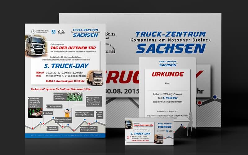 Printmedien für Truck-Zentrum Sachsen