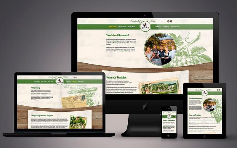"""Webdesign für Landgasthof & Hotel """"Zum Roß"""""""