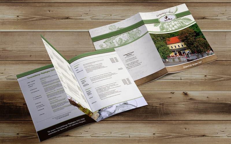 """Broschüre für Landgasthof & Hotel """"Zum Roß"""""""