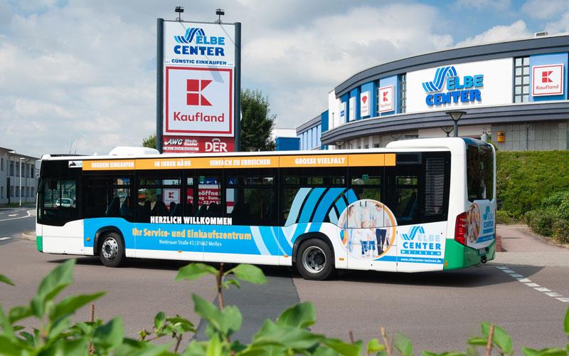 Fahrzeuggestaltung für ElbeCenter Meißen