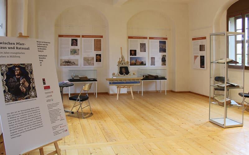 Ausstellungstafeln für Mühlberg