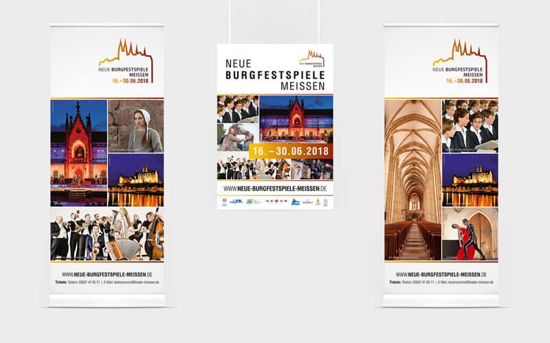 Roll Ups und Plakate für Neue Burgfestspiele Meißen