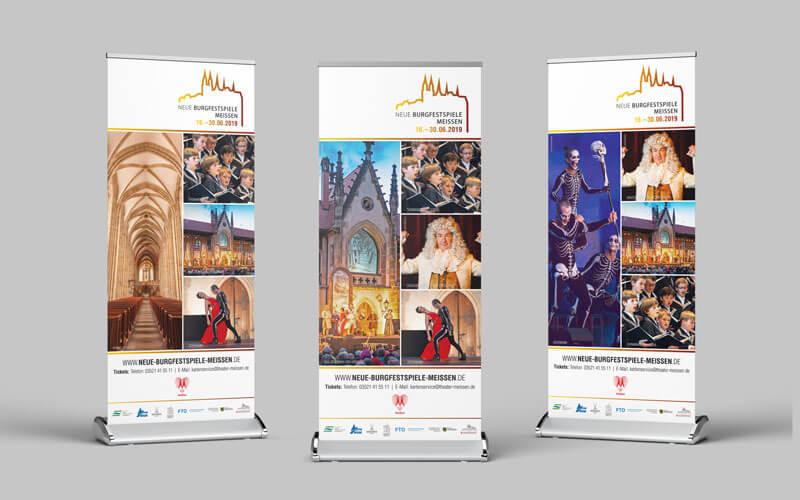 Roll Ups für Neue Burgfestspiele Meißen