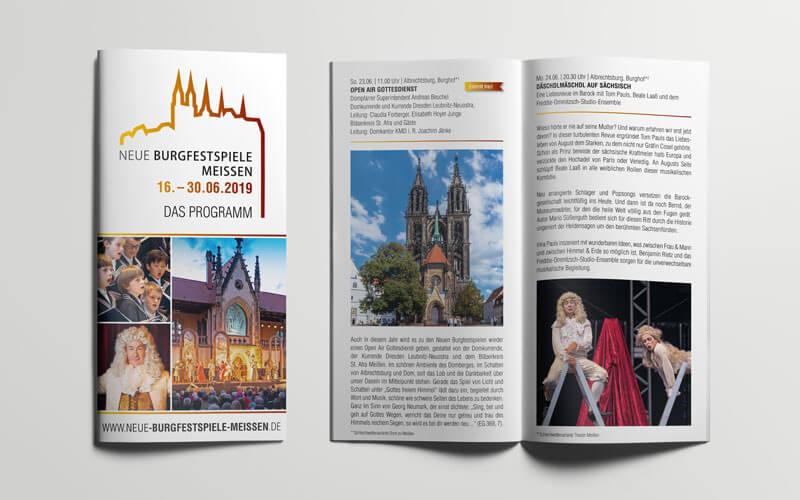 Broschüre für Neue Burgfestspiele Meißen