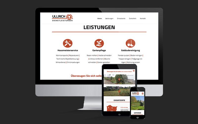 Webdesign für Ullrich Dienstleistungen