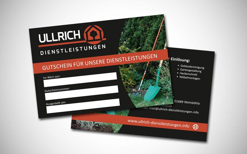 Gutschein für Ullrich Dienstleistungen