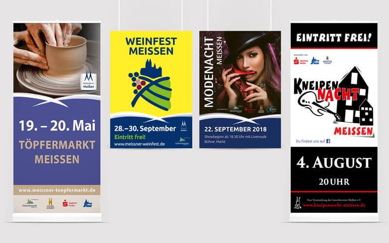 Plakate und Roll Ups für Gewerbeverein Meißen