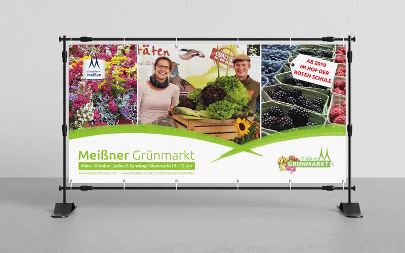 Banner für Meißner Grünmarkt