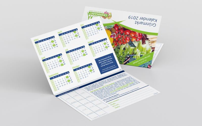 Kalender und Stempelkarte für Meißner Grünmarkt
