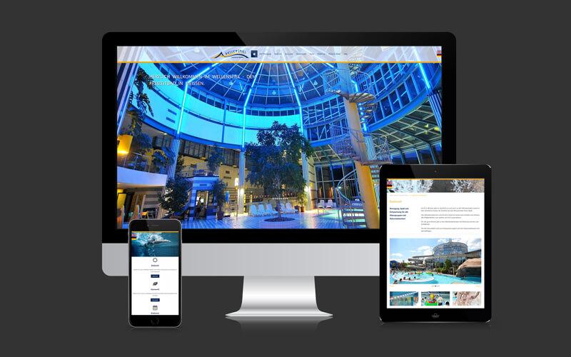 Webdesign für Freizeitbad Wellenspiel Meißen