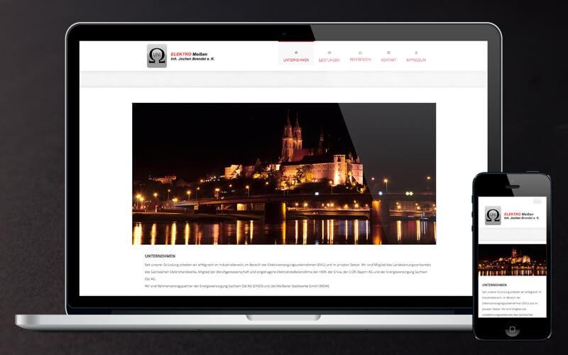 Webdesign für UNI ELEKTRO