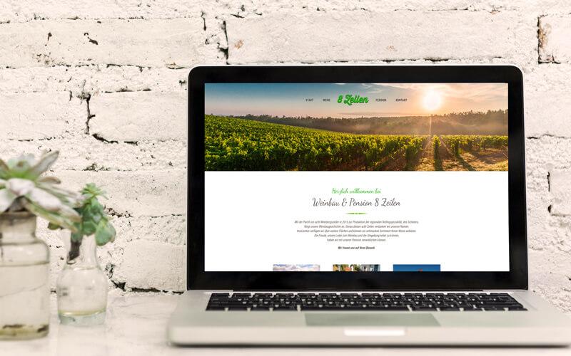 Weinbau & Pension 8 Zeilen