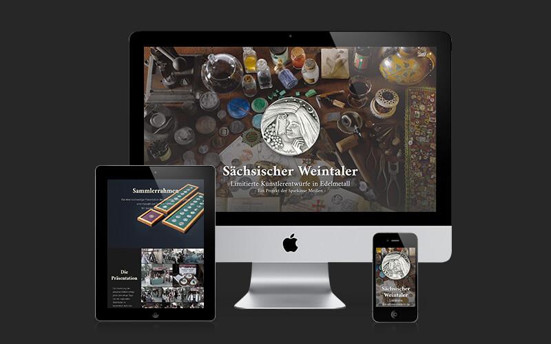 Webdesign für Sächsischer Weintaler