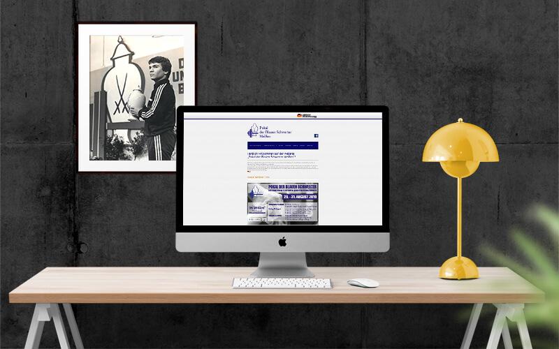 Webdesign für Pokal der Blauen Schwerter Meißen