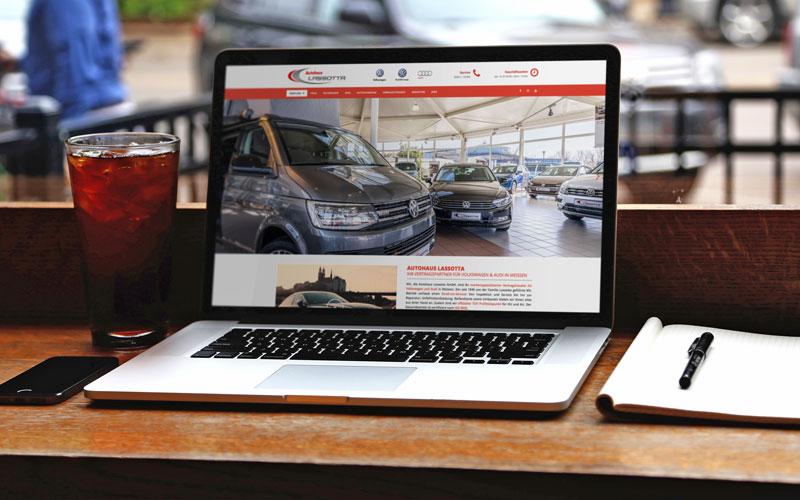 Webdesign für Autohaus Lassotta Meißen