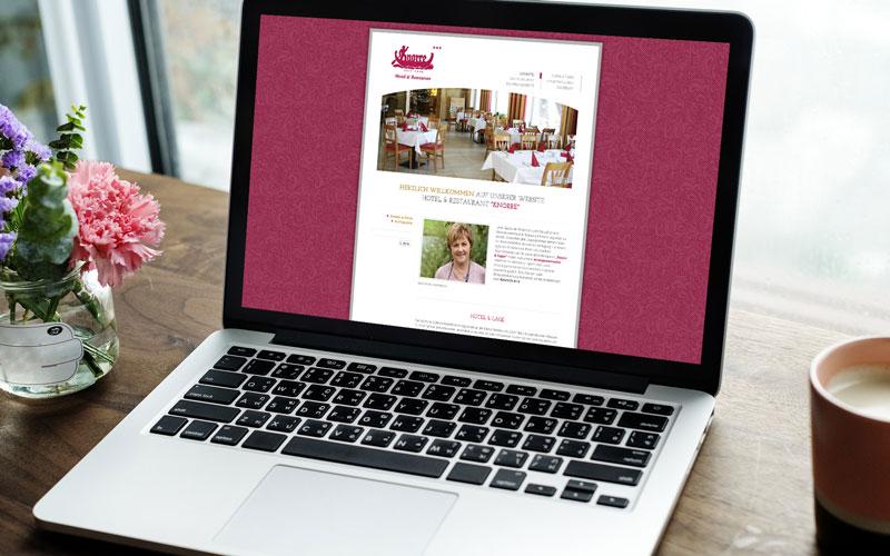 Webdesign für Hotel Knorre