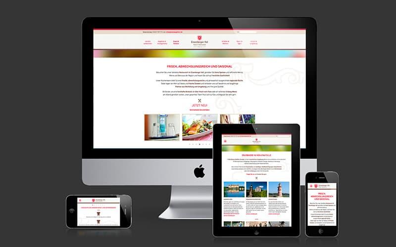 Webdesign für Eisenberger Hof