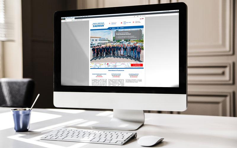 Webdesign für Truck-Zentrum Sachsen