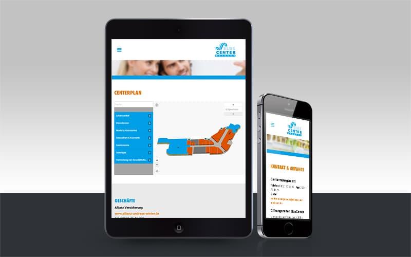 Webdesign für ElbeCenter Meißen