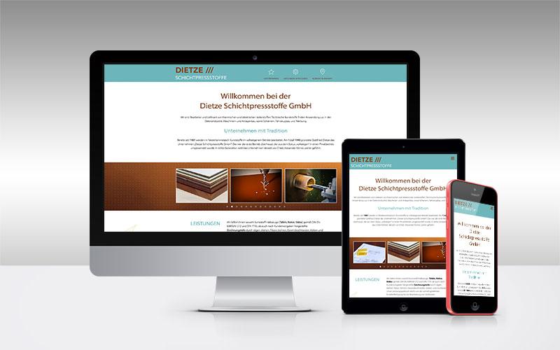 Webdesign für Dietze Schichtpressstoffe