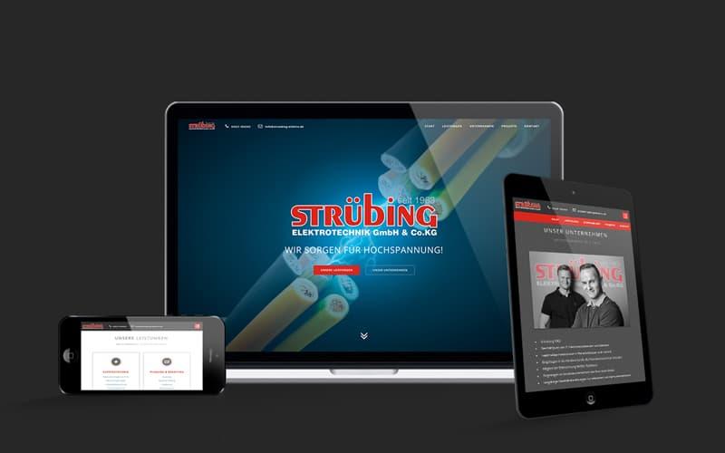 Webdesign für Strübing Elektrotechnik