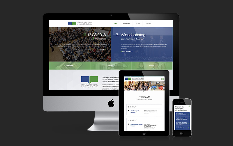 Webdesign für Verknüpfe dich!