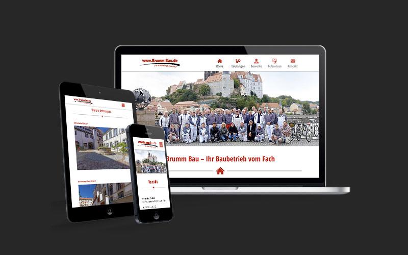 Webdesign für Brumm Bau GmbH