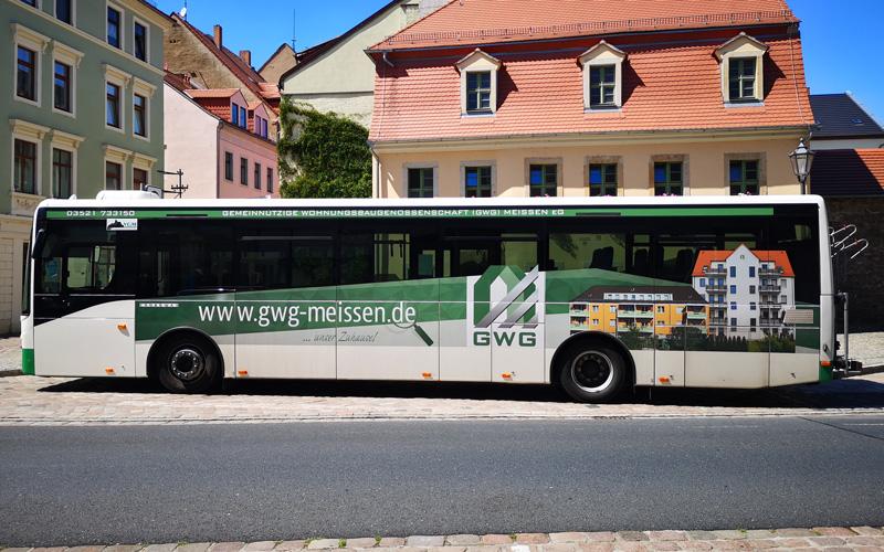 Fahrzeuggestaltung GWG Meißen Bus